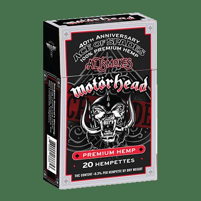 Motörhead Ace of Spades Pack of Hempettes - 20 Hemp Cigarettes - AltSmokes