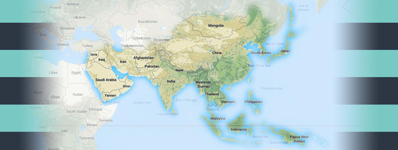 Map of Asia Region