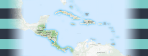 Map of Central America and Caribbean Region