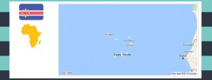 Map and flag of Cape Verde.