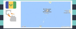 Map and flag of Saint Vincent and the Grenadines.