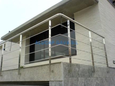 baranda acero inox para balcon