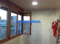 ventana practicable aluminio madera