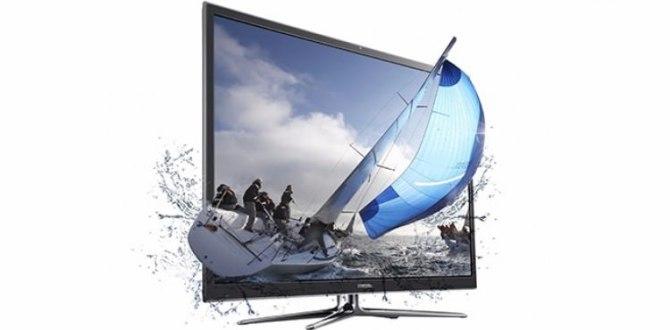Samsung 3D televizyonda frene bastı
