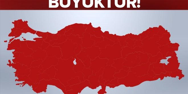 """""""Türkiye 3'ten büyüktür!""""."""