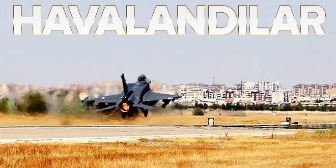 F-16 uçakları acil koduyla havalandı  .