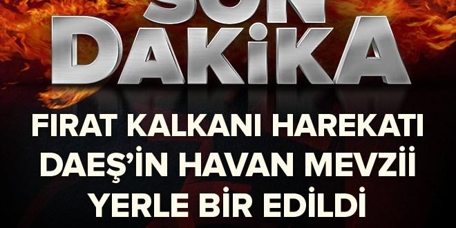 TSK: DAEŞ'in Havan Mevzii imha edildi
