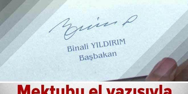 Başbakan Yıldırım'ın el yazısıyla mektup