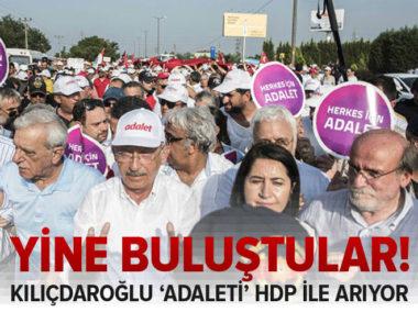 CHP lideri Kıılıçdaroğlu'nun yürüyüşüne HDP'den destek