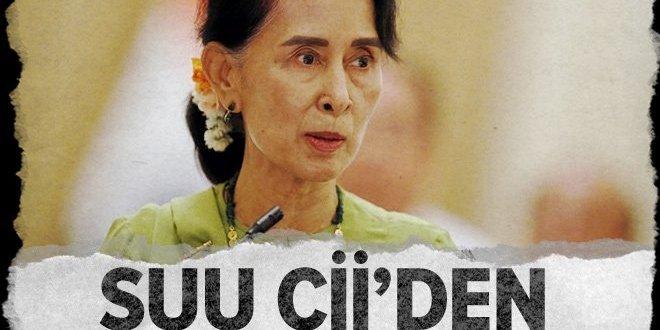 Aung San Suu Çii'den Arakan açıklaması.