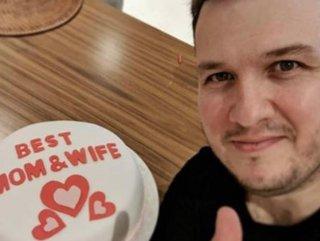 Şahan Gökbakar eşine elleriyle pasta yaptı