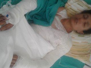 Eşine 8 yaşındaki kızının gözü önünde işkence yaptı