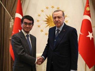Erdoğan, Japonya Dışişleri Bakanı'nı kabul etti