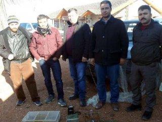 Saka kuşu yakalayan avcılara 14 bin lira ceza