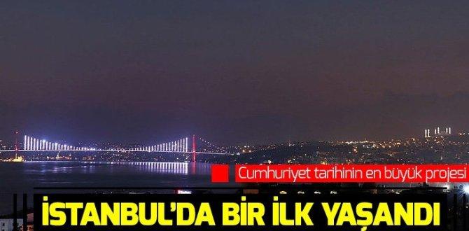 İstanbul'da bir ilk yaşandı! Çamlıca Camii'nin minareleri aydınlatıldı.