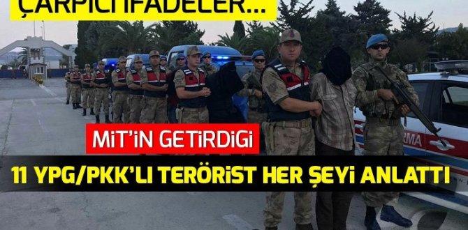 Afrin'de yakalanan 11 YPG/PKK'lı öttü! Flaş itiraflar…