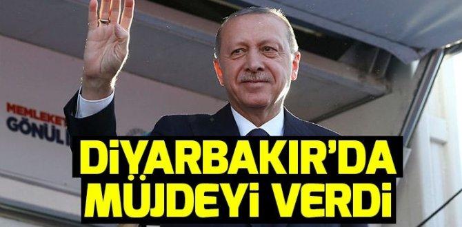 Son dakika! Başkan Erdoğan'dan Diyarbakır'da müjde