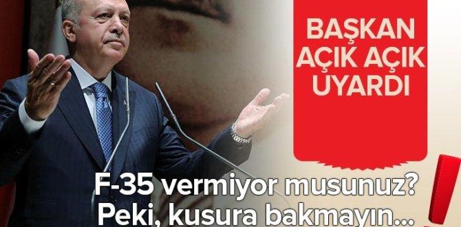 Başkan Erdoğan'dan son dakikaF-35açıklaması: Vermiyor musunuz? Biz de o zaman…
