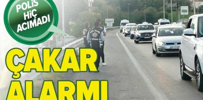 İstanbul'da çakarlı araç denetimi! Para cezası kesildi
