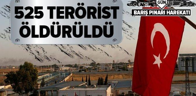 Son dakika: Barış Pınarı Harekatı'nda öldürülen terörist sayısı açıklandı .