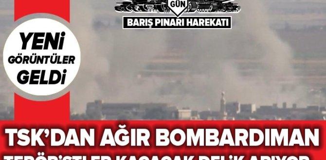 Resulayn'da terör örgütü PYD mevzileri böyle vuruldu