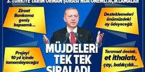 Son dakika: Başkan Erdoğan Türkiye Tarım Orman Şurası'nda alınan karaları açıkladı! Müjdeleri sıraladı… .