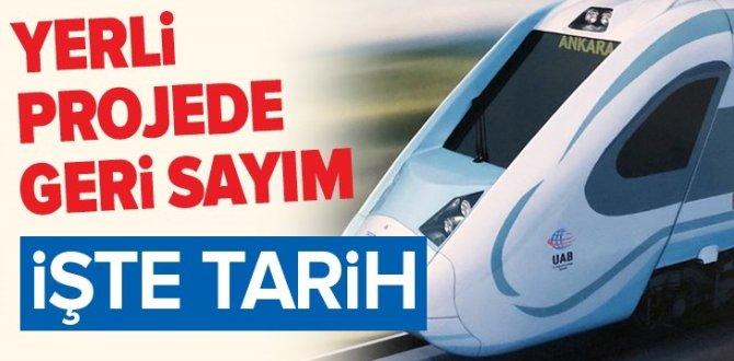 Milli elektrikli trende geri sayım….
