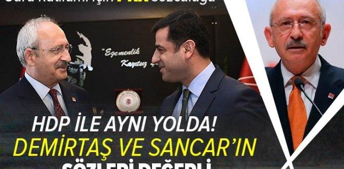 CHP Genel Başkanı Kemal Kılıçdaroğlu PKK'nın Gara katliamında HDP ile aynı yolda