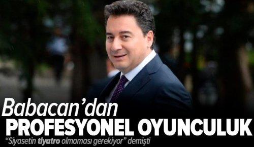"""Son dakika: """"Siyasetin tiyatro olmaması gerekiyor"""" diyen Ali Babacan'dan profesyonel oyunculuk! ."""