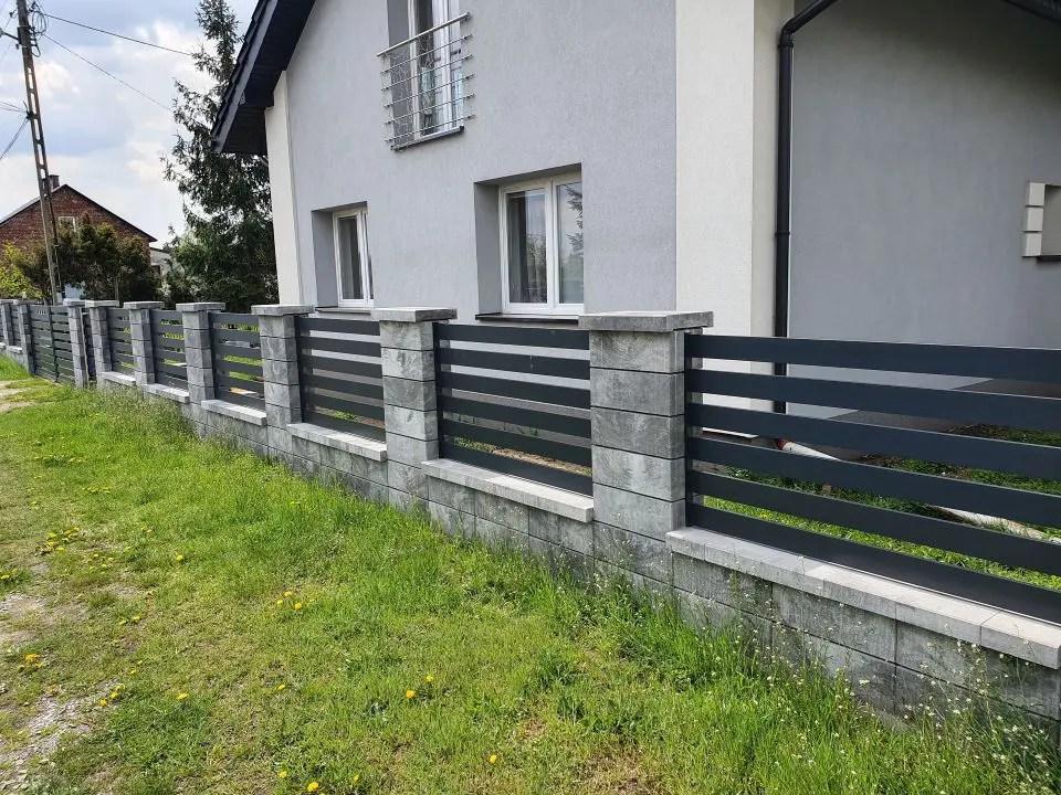 ALUgate ogrodzenie aluminiowe AG120 4