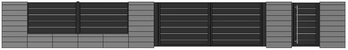 ogrodzenie aluminiowe ALUgate ag200 BORDER
