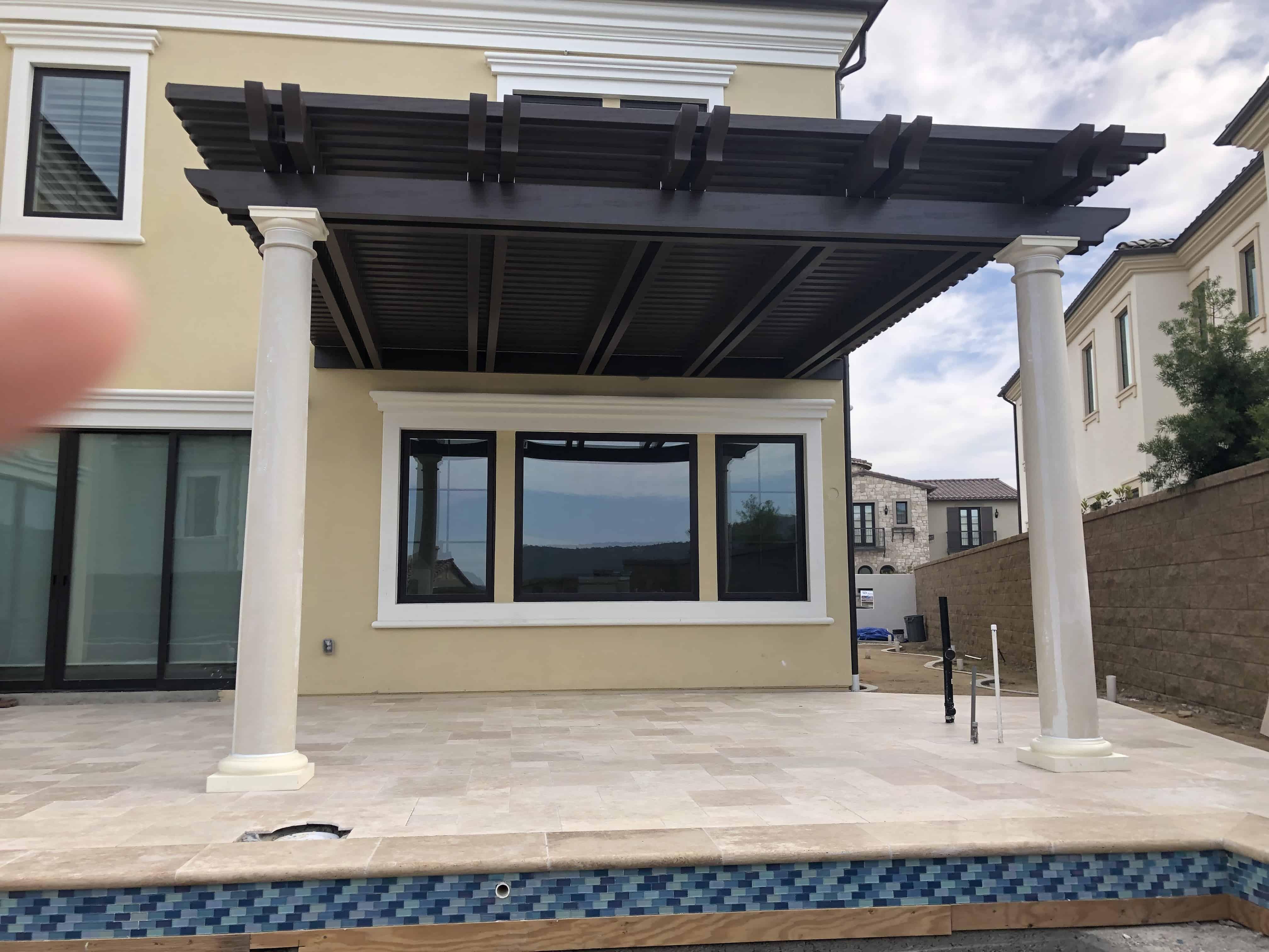 alumawood patio cover lattice tube