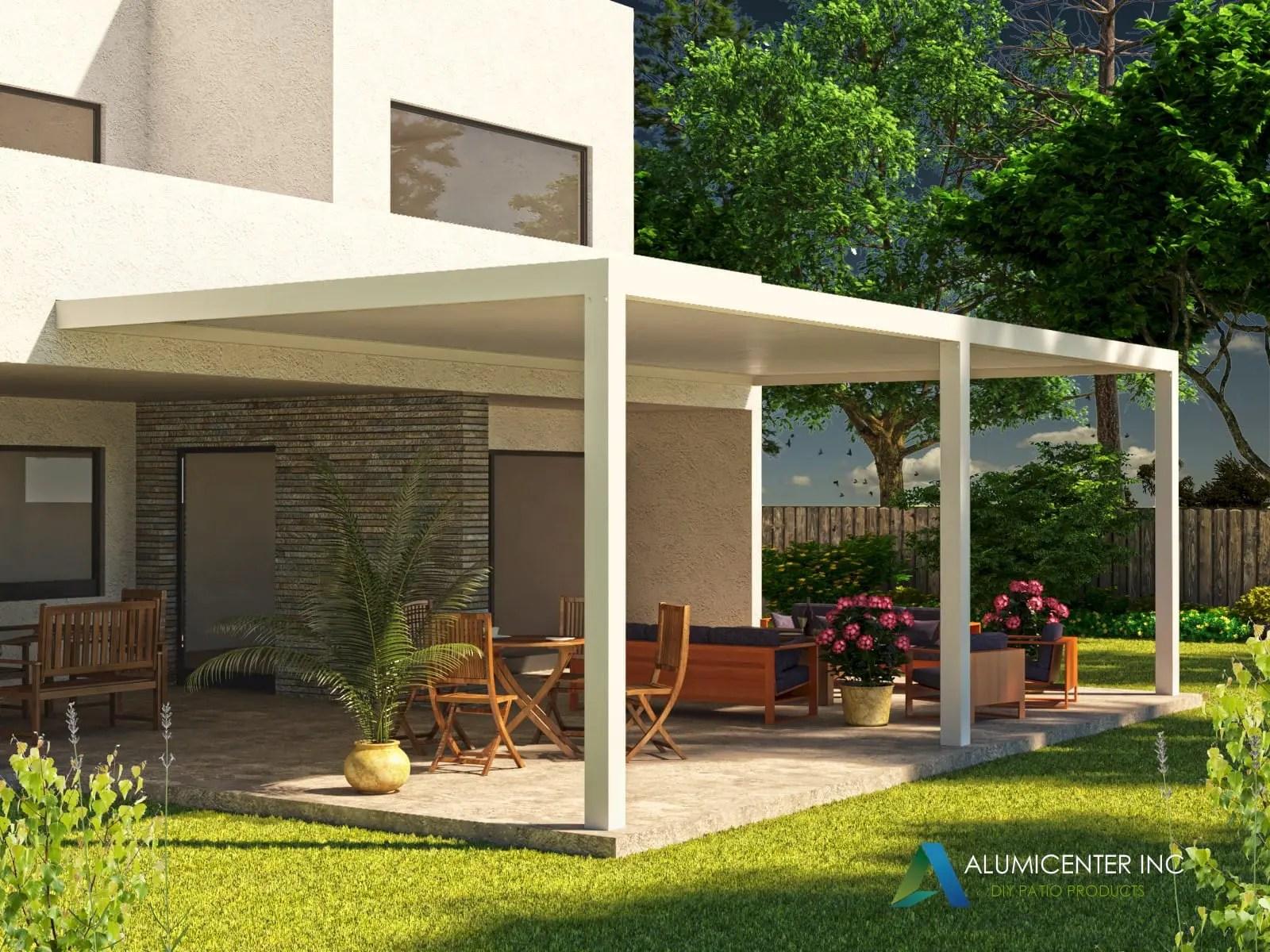 modern aluminum patio covers