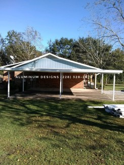 Double aluminum carport