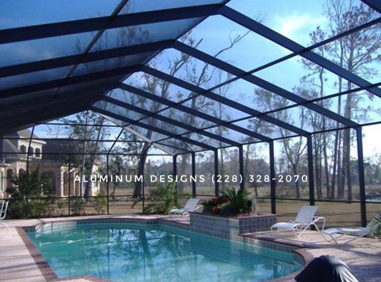 pool enclosure built by patio contractor Aluminum Designs