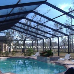 pool enclosure built by patio contractor Aluminum Designs