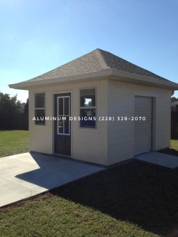 HOA Approved Sheds with concrete ramps
