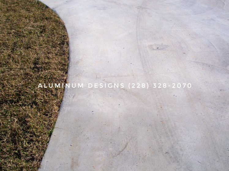 concrete driveway curved detail
