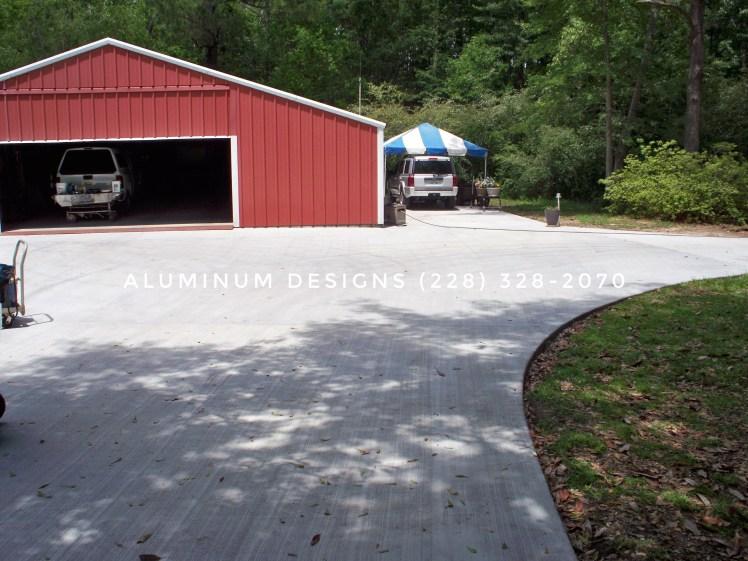 concrete job by aluminum designs 228-328-2070-1
