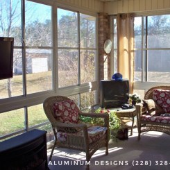 4 season room Built by Aluminum Designs of Saucier, MS.