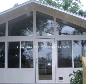 Sunrooms with Glass built by Aluminum Designs of Saucier, Ms.