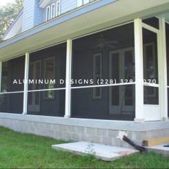 screen under Built by Aluminum Designs of Saucier, MS.