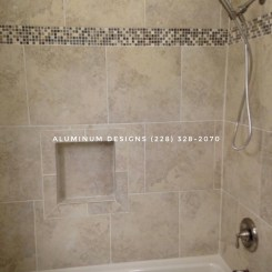 Tile shower surround/ bath remodel