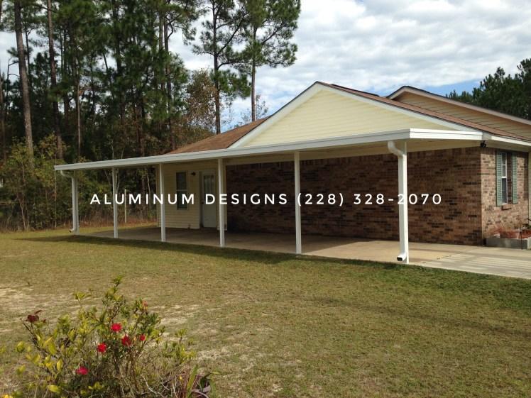 aluminum carport white frame pan roof system
