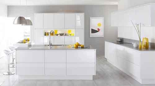 مطبخ ابيض ديكورات مطابخ مفتوحة اشكال حديثة والوان جذابة