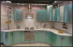 مطبخ المنيوم زاوية بالوان حديثة