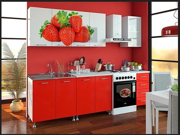 مطابخ 2019 بالوان جديدة روعة مطبخ بالون الاحمر باشكال جديدة من مطابخ مودرن
