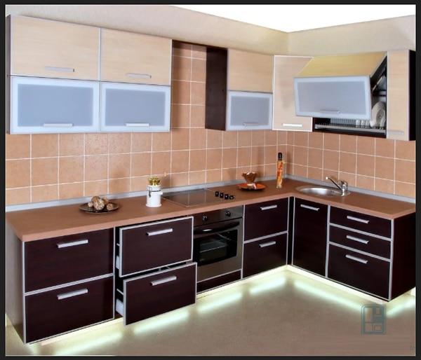 مطبخ بني مع النبيتي احدث الوان الطابخ 2019 مع سطوع الاضائة مع اللون البيج استيلات حديثة والوان راقية