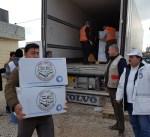 """""""الهلال الأحمر"""" توزع 860 سلة غذائية على نازحي الموصل"""