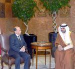 مبعوث سمو أمير البلاد ينقل تهاني سموه إلى الرئيس اللبناني